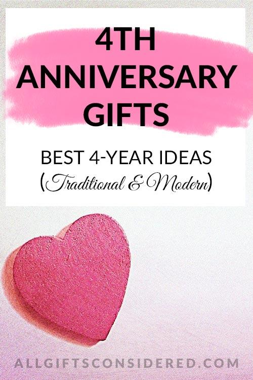 Best 4th Anniversary Gift Ideas