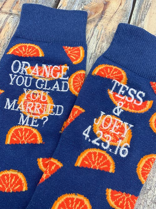 Orange You Glad? Socks