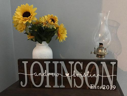Simple Family Name Sign