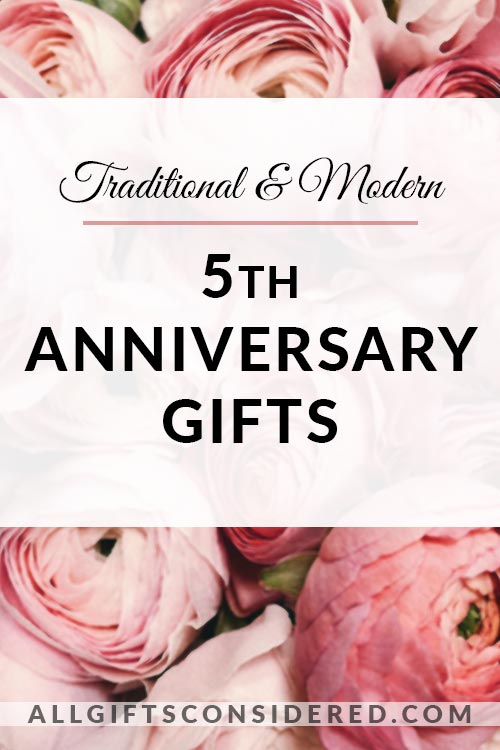 Gift Guide for 5th Anniversary