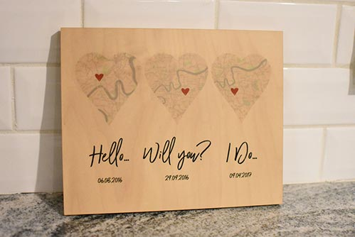 Personalized Date Plaque