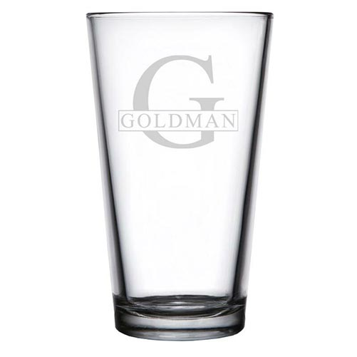 Personalized Pint Glass- Best 60th Birthday Gifts