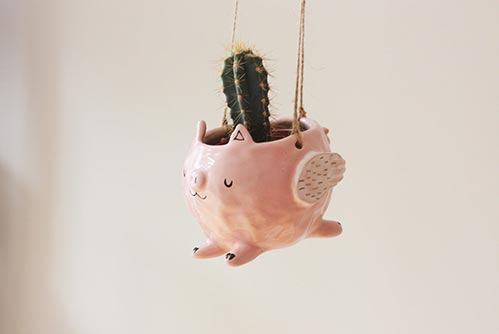 Flying Pig Hanger Pot- Best 60th Birthday Gifts