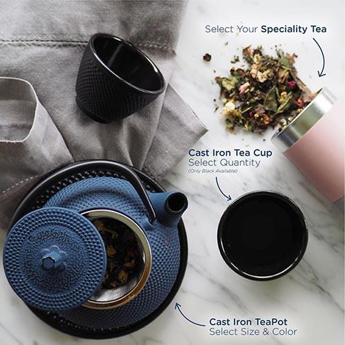 Blue Cast Iron Tea Pot