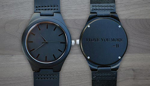 Black Engraved Watch
