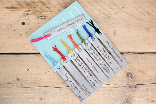 Personalized Iron Bookmarks