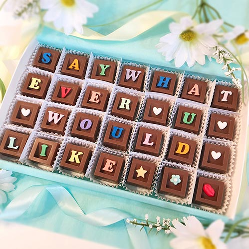 Personalized Chocolate Squares