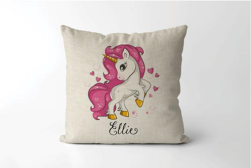 Best Gift Ideas for 6 Year Old's- Personalized Unicorn Pillow