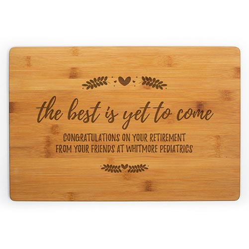 Personalized Wooden Cutting Board- 70th Birthday Gift Ideas