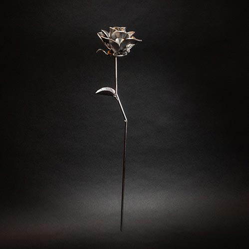 Steel Metal Rose- 70th Birthday Gift Ideas
