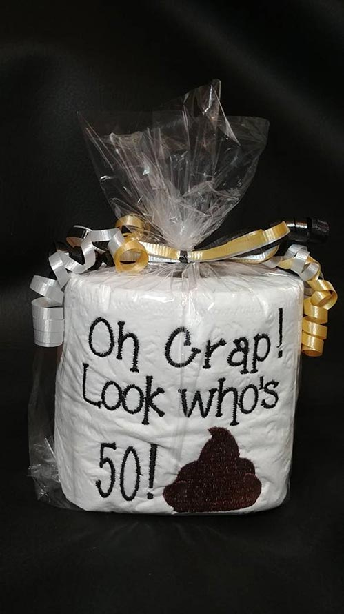 Toilet Paper Gag Gift- 70th Birthday Gift Ideas