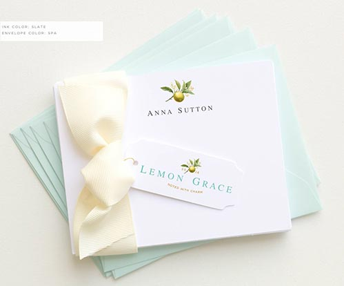 Personalized Stationary Cards for Her