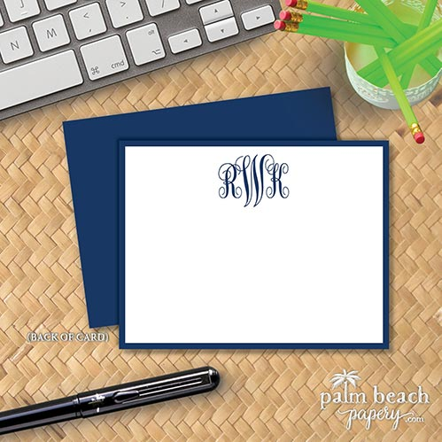 Monogrammed Stationary Cards