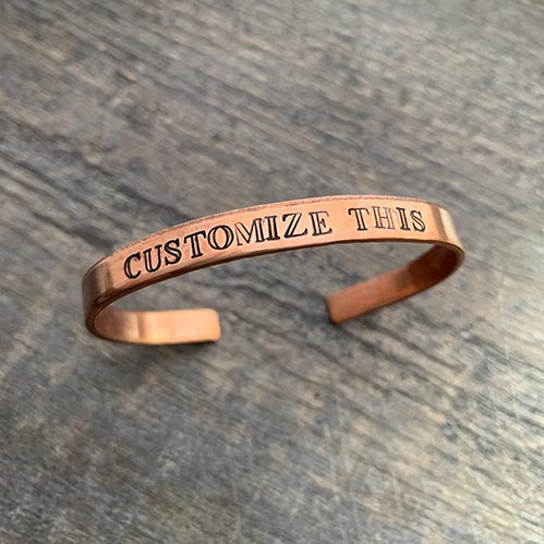 Personalized Gifts for Her: Copper Bracelets