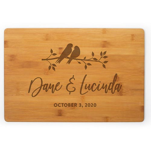 Personalized Cutting Boards for Love Birds