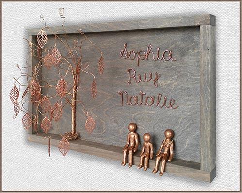 Copper Wedding Sculpture