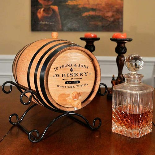 Personalized Whiskey Barrell
