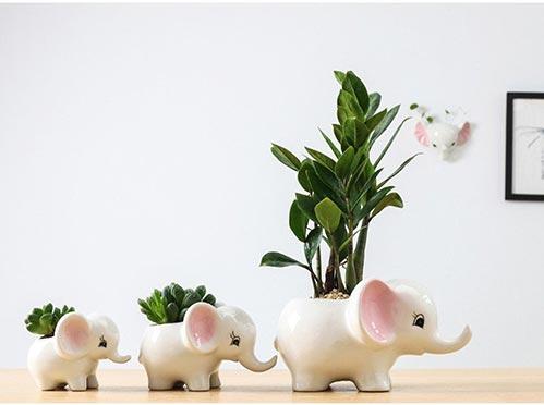 Mini Elephant Family of Pots