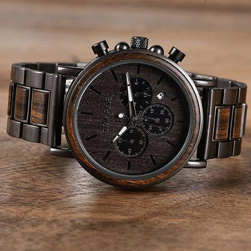 Engraved Wooden Watches for Him