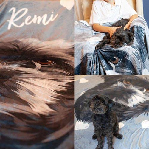 Illustrated Fur Blankets