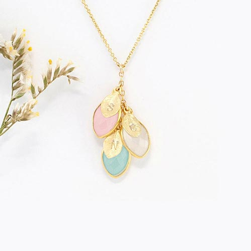 Beautiful Family Birthstone Necklace