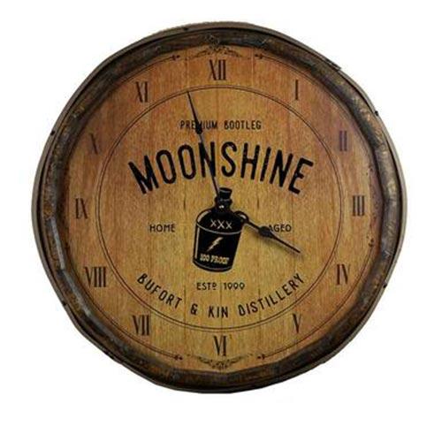 Moonshine Barrel Clock