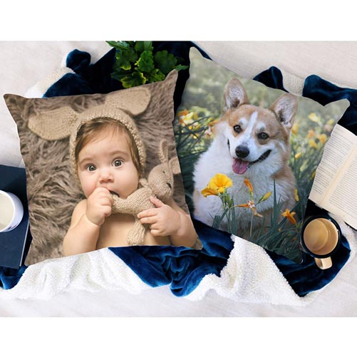 Soft, Personalized Photo Pillows