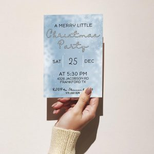 Template Photo Christmas Party Customizable Invitation Card: A Merry Little Party