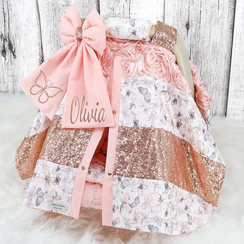 Adorable Baby Car Seat Cover