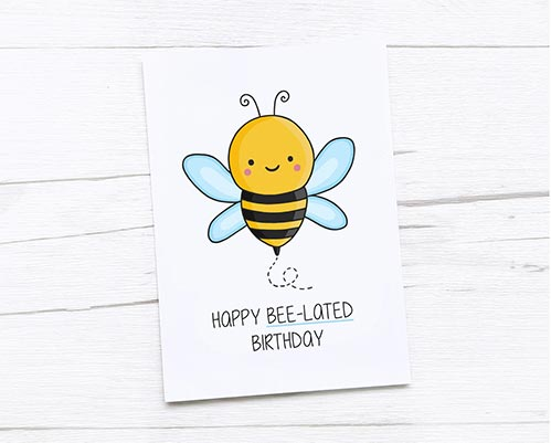 Bee-lated Cards