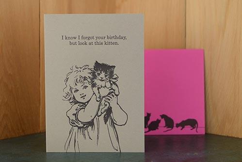 But Kitten!! Birthday Card