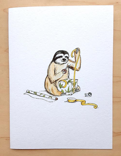 Sloth Birthday Cards