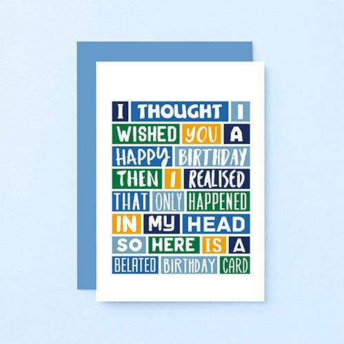 In My Head- Late Birthday Cards