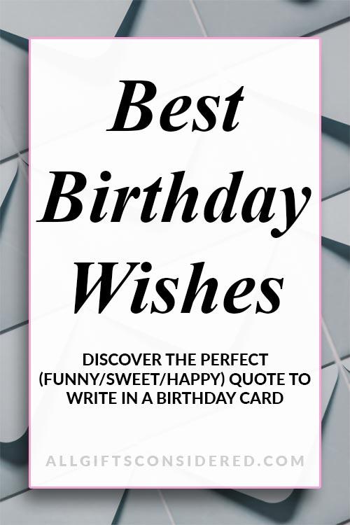 Perfect Birthday Wishes