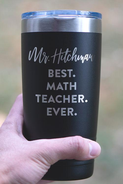 Best Math Teacher Ever Tumbler