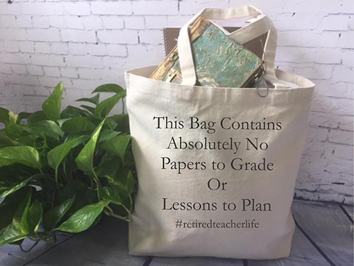 Book Bags for Retired Teachers