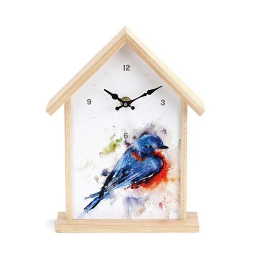 Watercolor Birdhouse Clocks