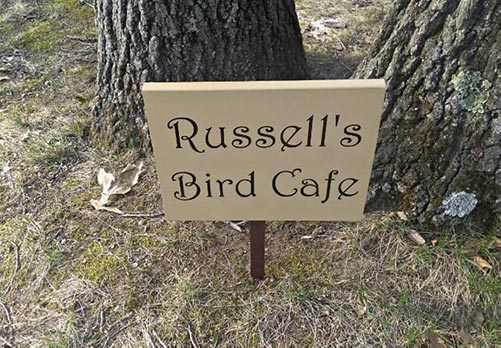 Personalized Bird Cafe Sign
