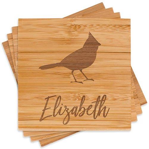 Engraved Bird Coasters