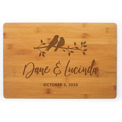 Personalized Lovebird Cutting Board