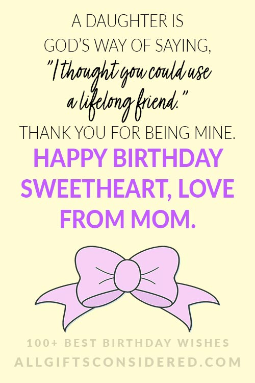 Sweet Birthday Cards for Daughters from Mom