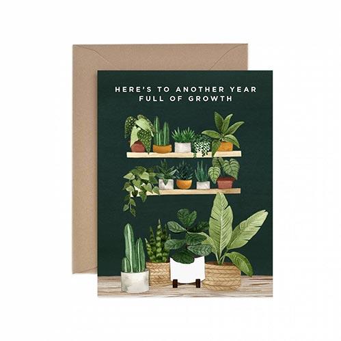 Plant Themed Birthday Card