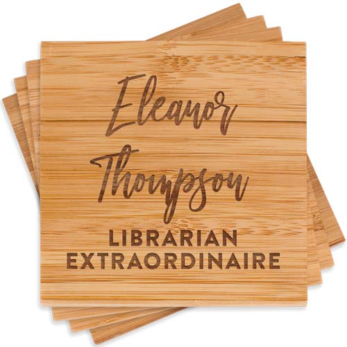 Wooden Librarian Coasters