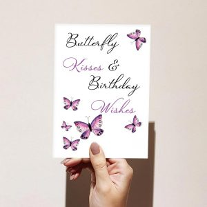 Butterfly Kisses Happy Birthday Card