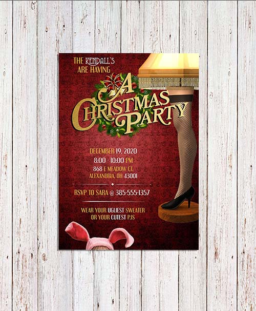 A Christmas Party - Movie Themed Invitation