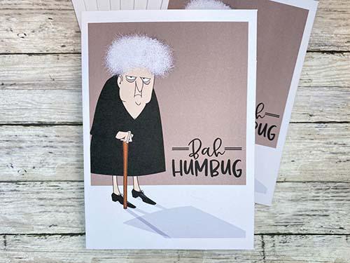 Bah Humbug - Funny Seasons Greeting Card