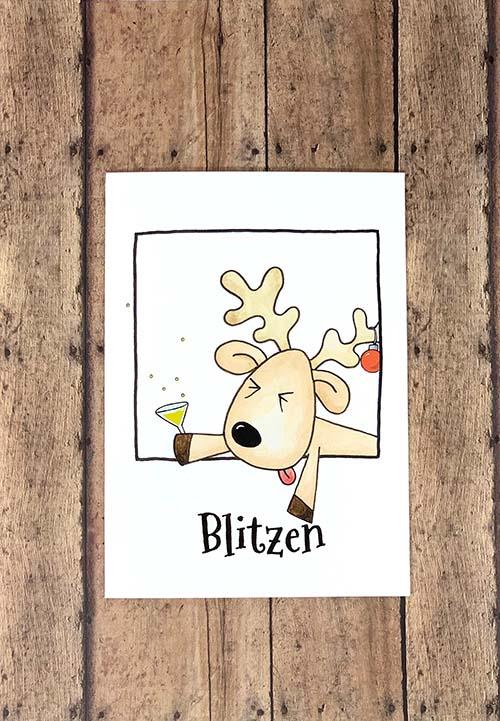 Hilarious Reindeer Christmas Cards