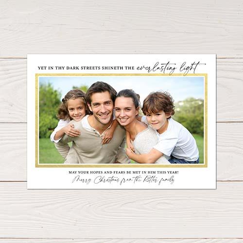Photo Christmas Card: Carol