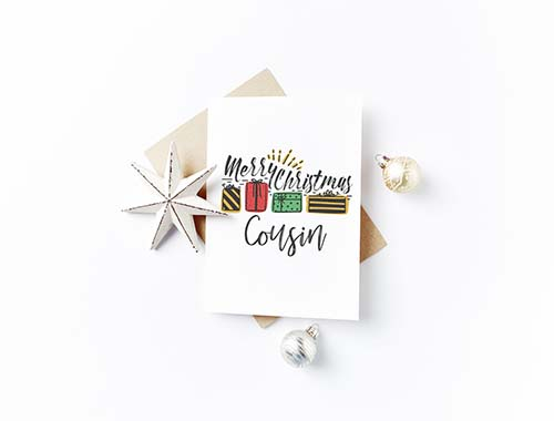 Best Christmas Cards for Cousins
