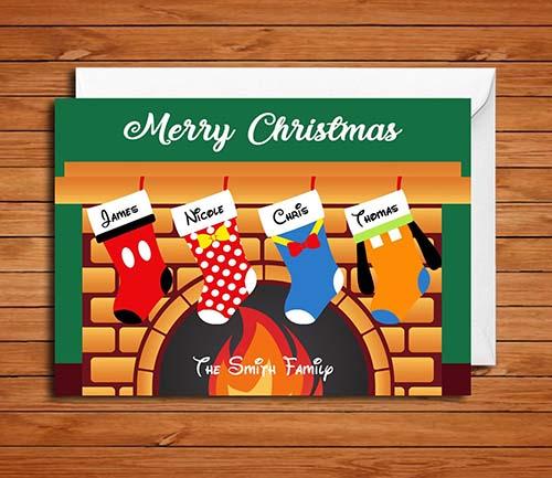Disney Themed Christmas Card